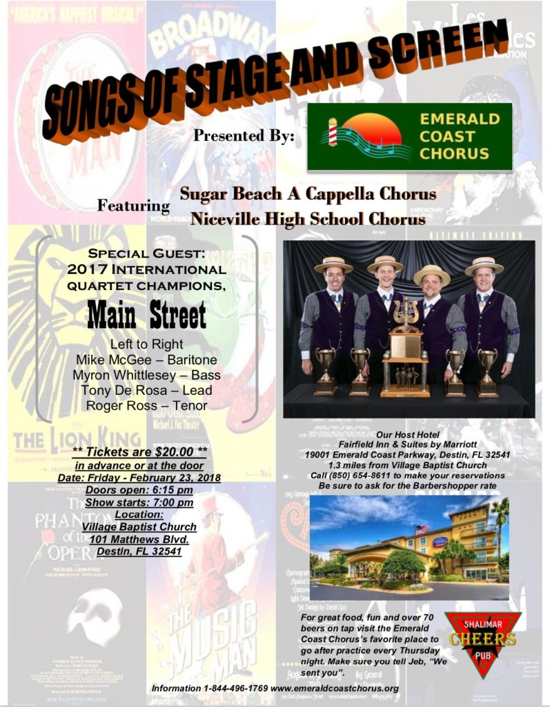 Songs of Stage and Screen @ Villiage Baptist Church   Destin   Florida   United States
