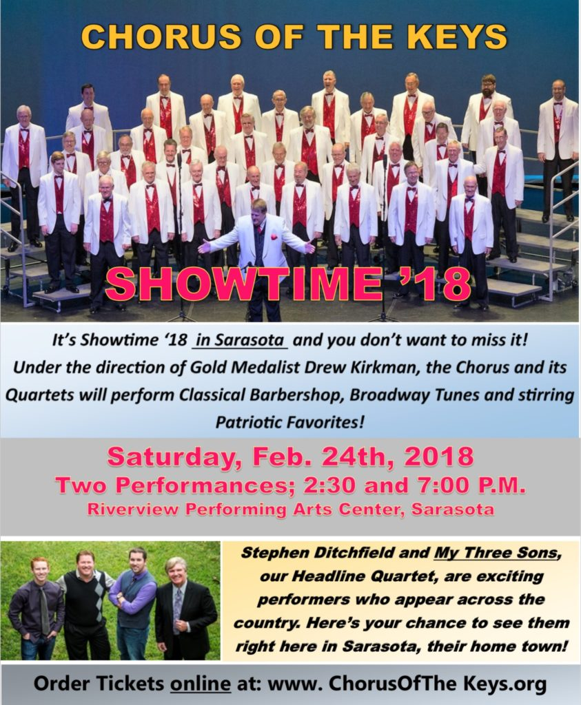 Sarasota Chapter Showtime18 @ Riverview Performing Arts Center | Sarasota | Florida | United States