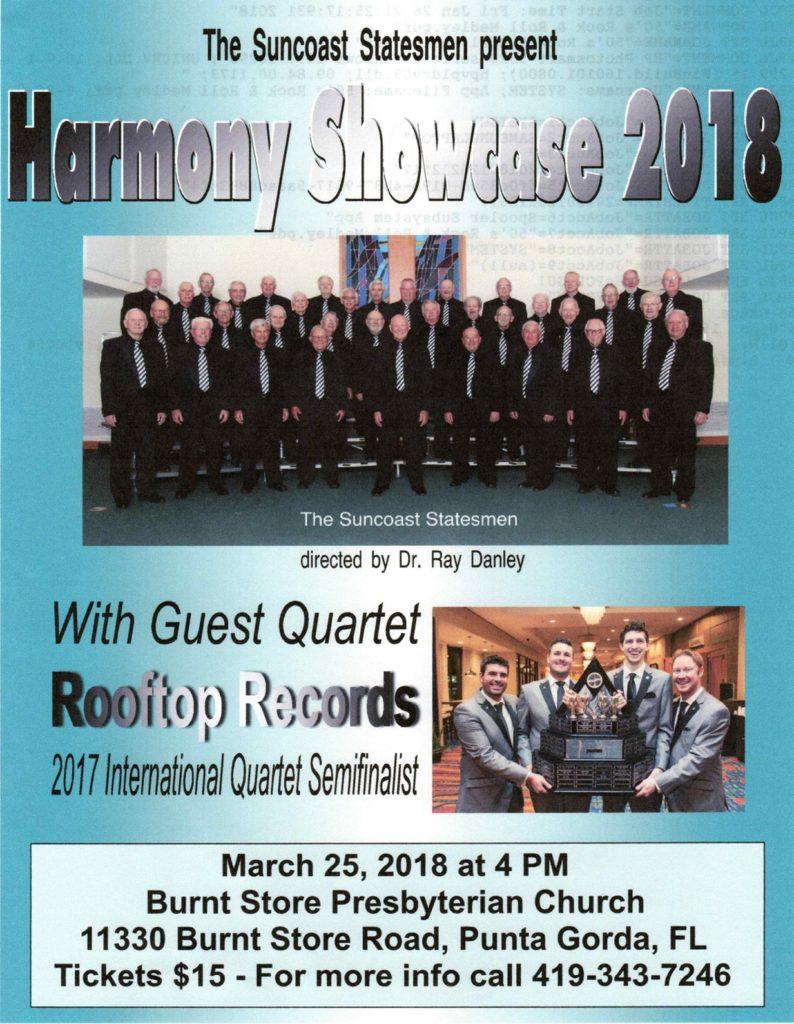 Harmony Showcase 2018 - Suncoast Statesmen @ Burnt Store Presbyterian Church | Punta Gorda | Florida | United States