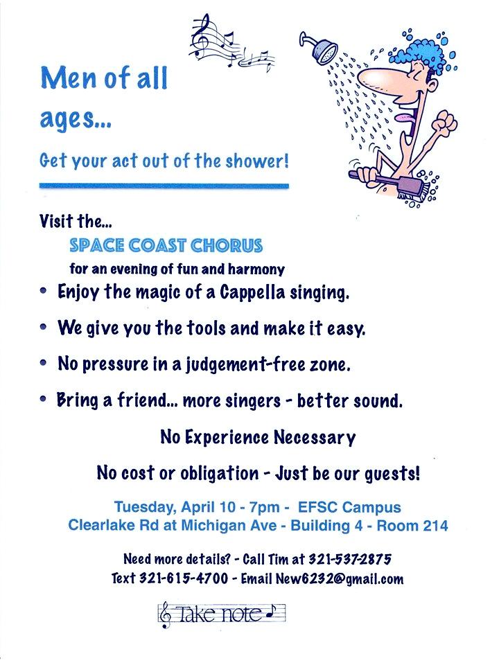Space Coast Chorus Guest Night @ EFSC Cocoa Campus | Cocoa | Florida | United States
