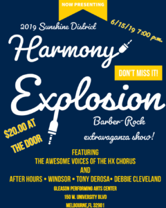 Harmony Explosion Saturday Night Show @ Gleason Performing Arts Center