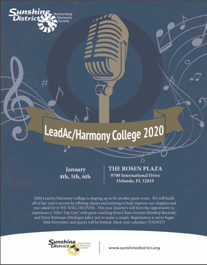 Sunshine District LeadAC/Harmony College 2020 @ Rosen Plaza Hotel | Orlando | Florida | United States