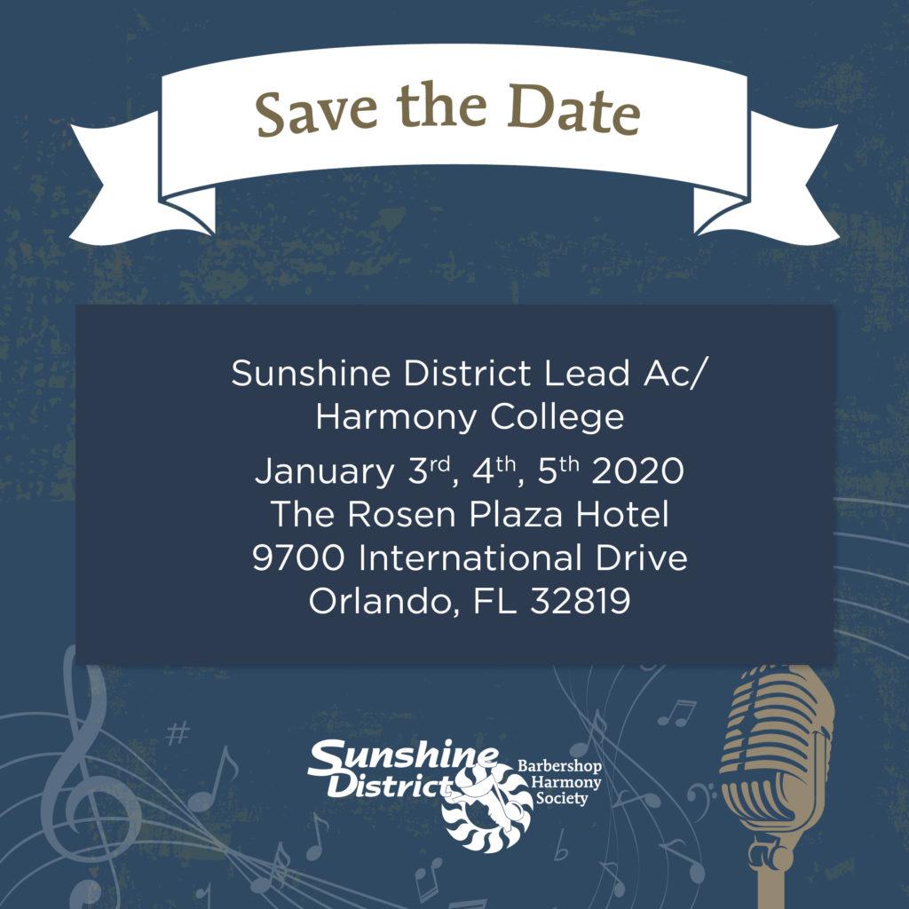 Sunshine District LeadAC/Harmony College 2020 @ Rosen Plaza Hotel