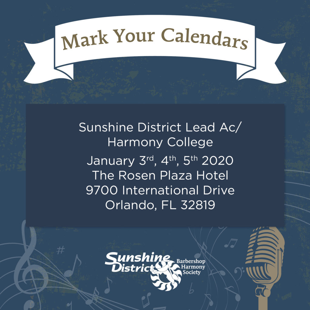 Sunshine District LeadAC/Harmony College 2020 @ Rosen Plaza Hotel | Orlando | Florida | United States